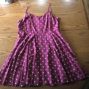 NWT Old Navy polka dot sun dress wine color XL